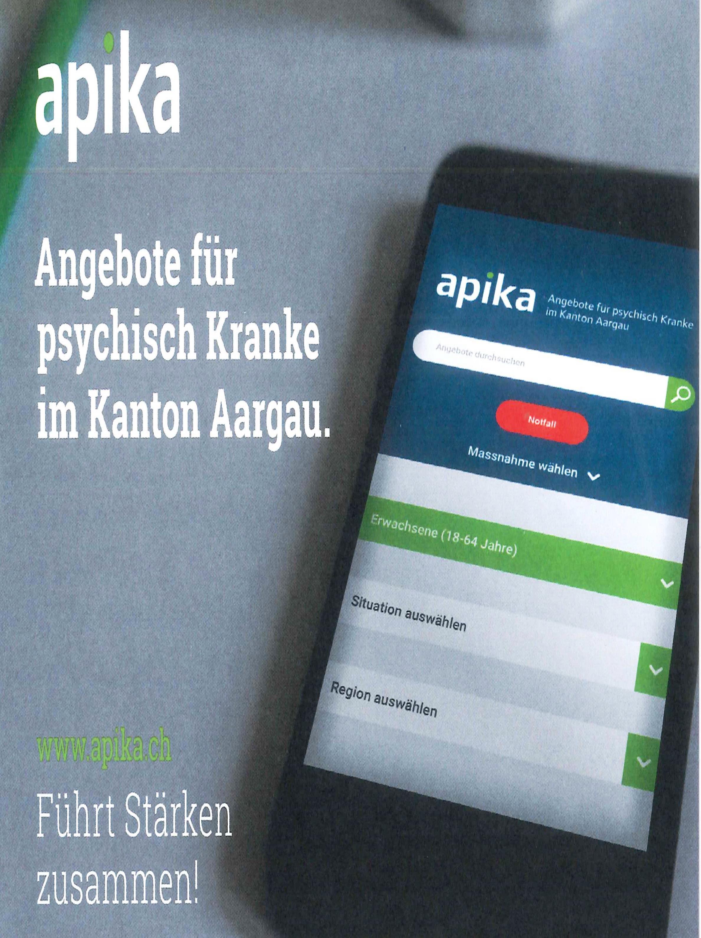 Apika - Angebote für psychisch Kranke im Kanton Aargau | KABO